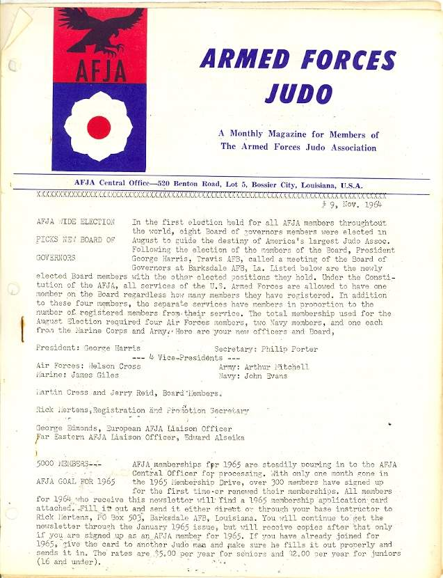 11/64 Armed Forces Judo Association