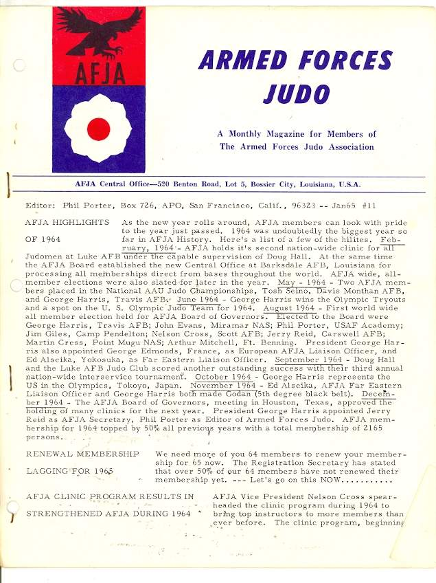 01/65 Armed Forces Judo Association