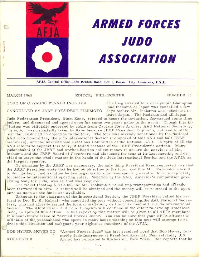 03/65 Armed Forces Judo Association