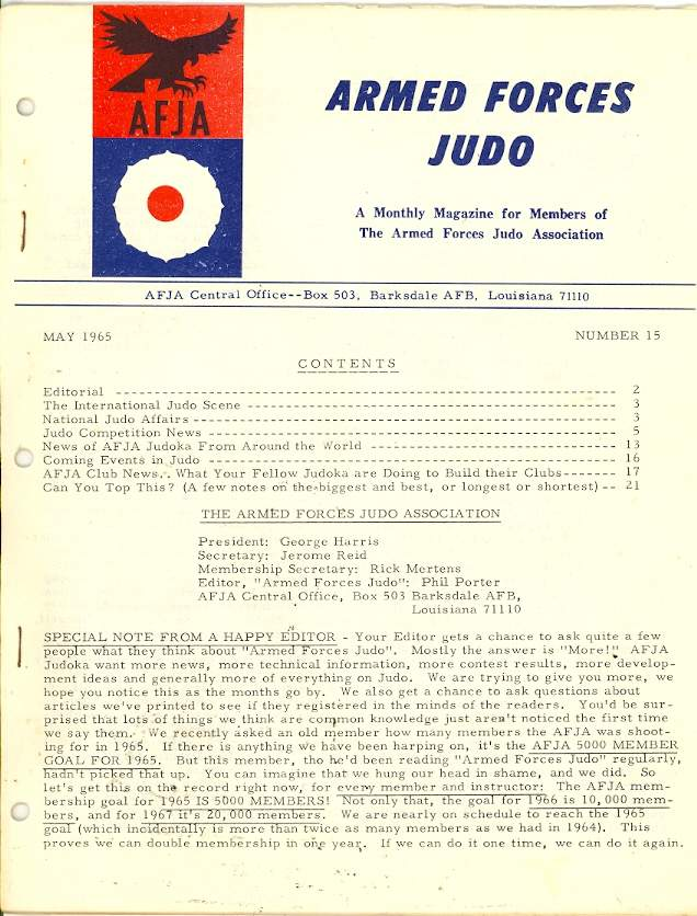 05/65 Armed Forces Judo Association