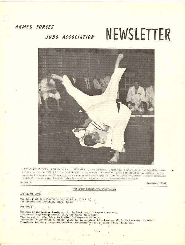 09/62 Armed Forces Judo Association Newsletter