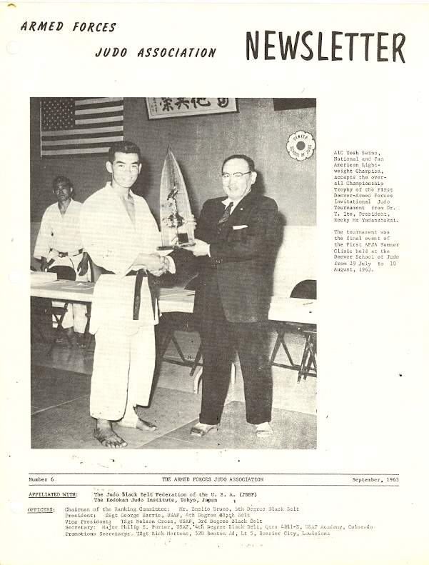 09/63 Armed Forces Judo Association Newsletter