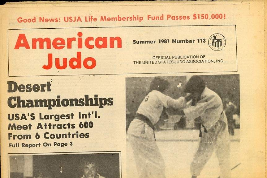 Summer 1981 American Judo Newspaper