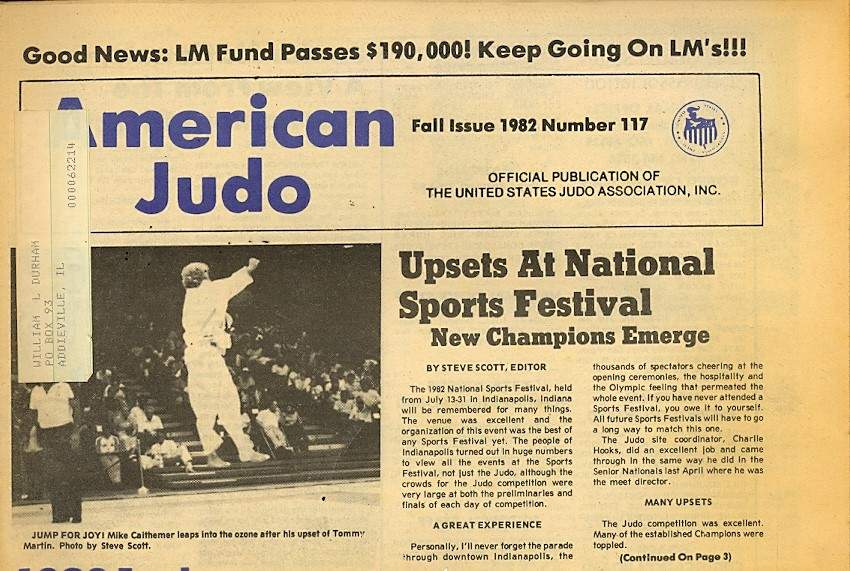 Fall 1982 American Judo Newspaper