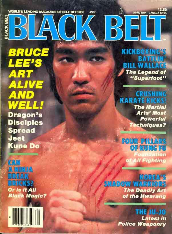 李小龍作封面的《黑帶》雜誌。(網上圖片)