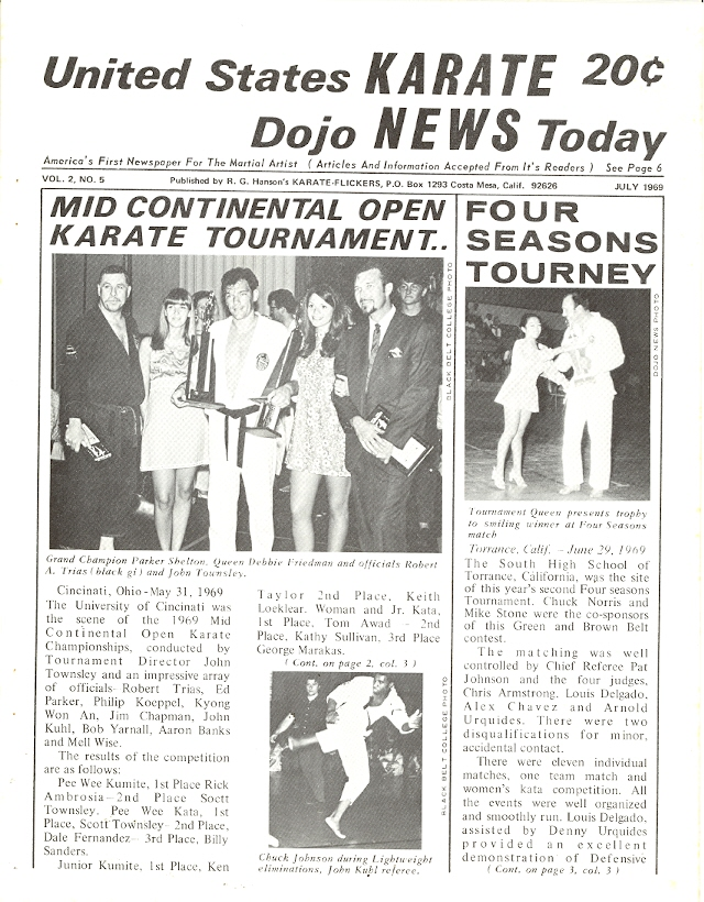 07/69 United States Karate Dojo News Today Newspaper