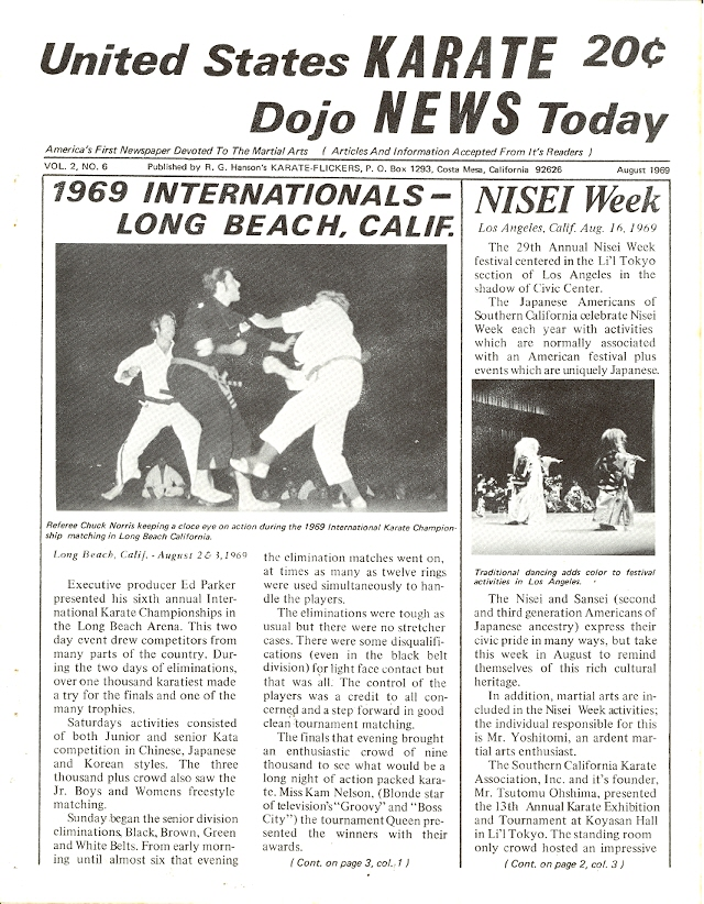08/69 United States Karate Dojo News Today Newspaper