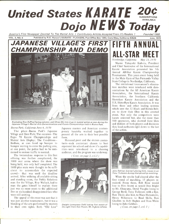 06/70 United States Karate Dojo News Today Newspaper