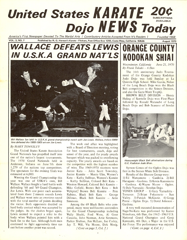 08/70 United States Karate Dojo News Today Newspaper