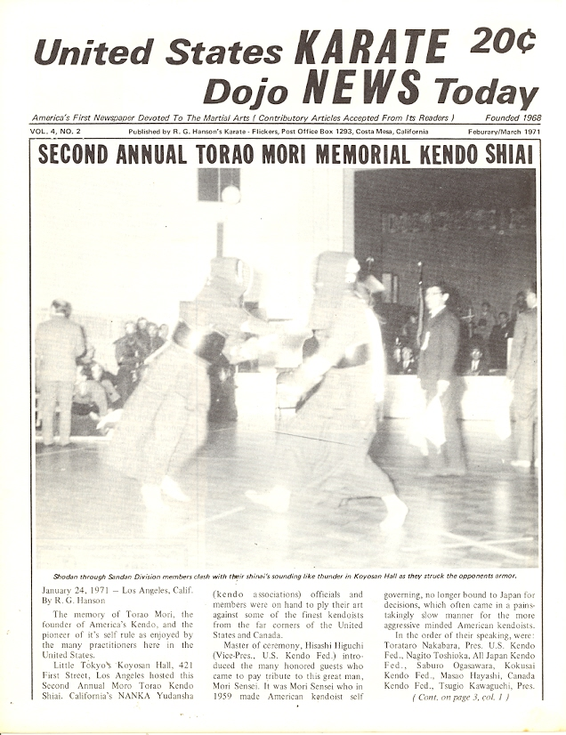 02/71 United States Karate Dojo News Today Newspaper