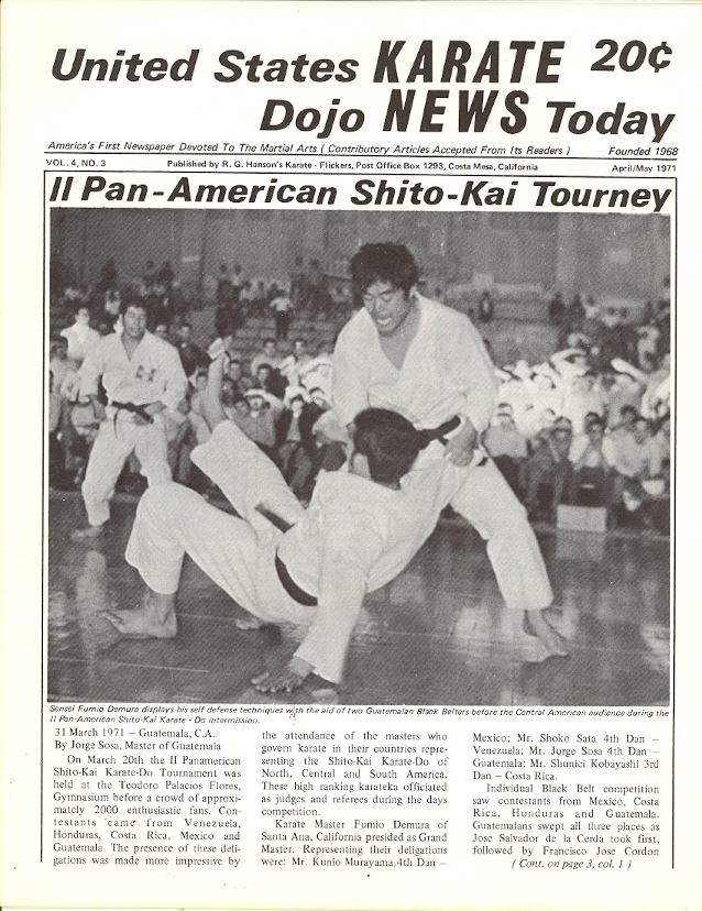 04/71 United States Karate Dojo News Today Newspaper