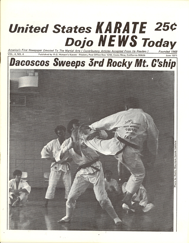 06/71 United States Karate Dojo News Today Newspaper