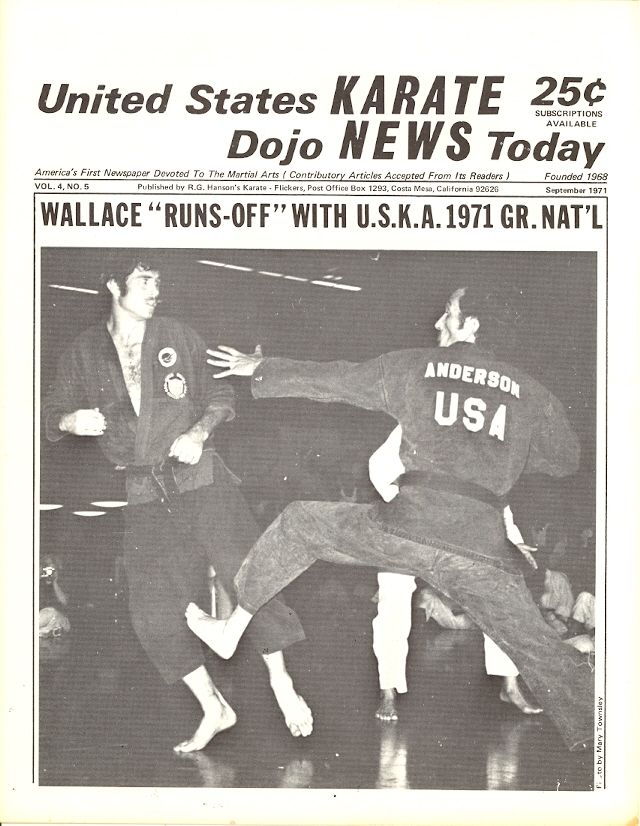09/71 United States Karate Dojo News Today Newspaper