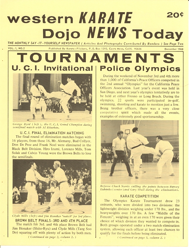 12/68 Western Karate Dojo News Today Newspaper