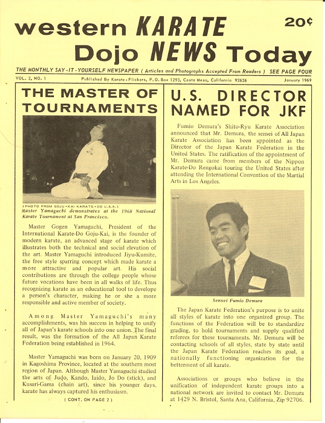 01/69 Western Karate Dojo News Today Newspaper