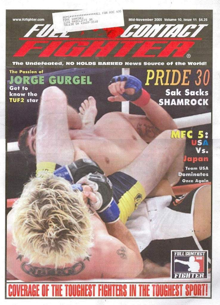 11/05 Full Contact Fighter Newspaper