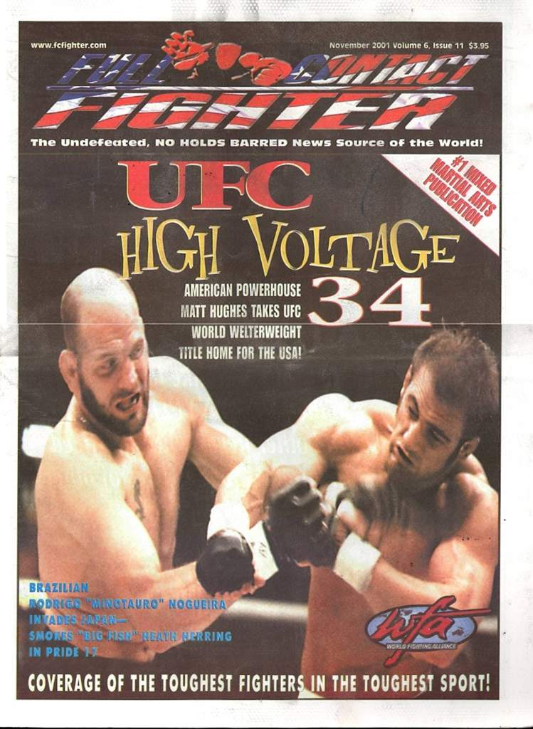 11/01 Full Contact Fighter Newspaper