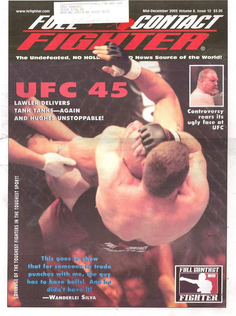 12/03 Full Contact Fighter Newspaper