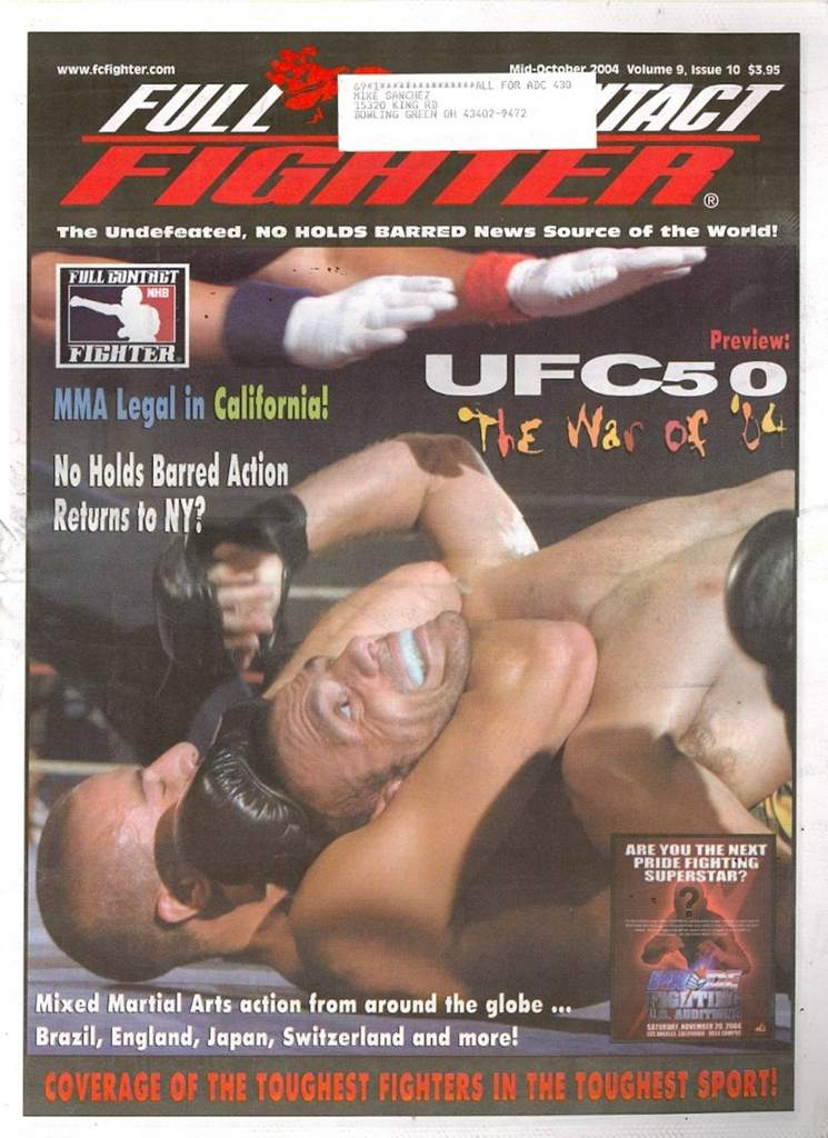10/04 Full Contact Fighter Newspaper