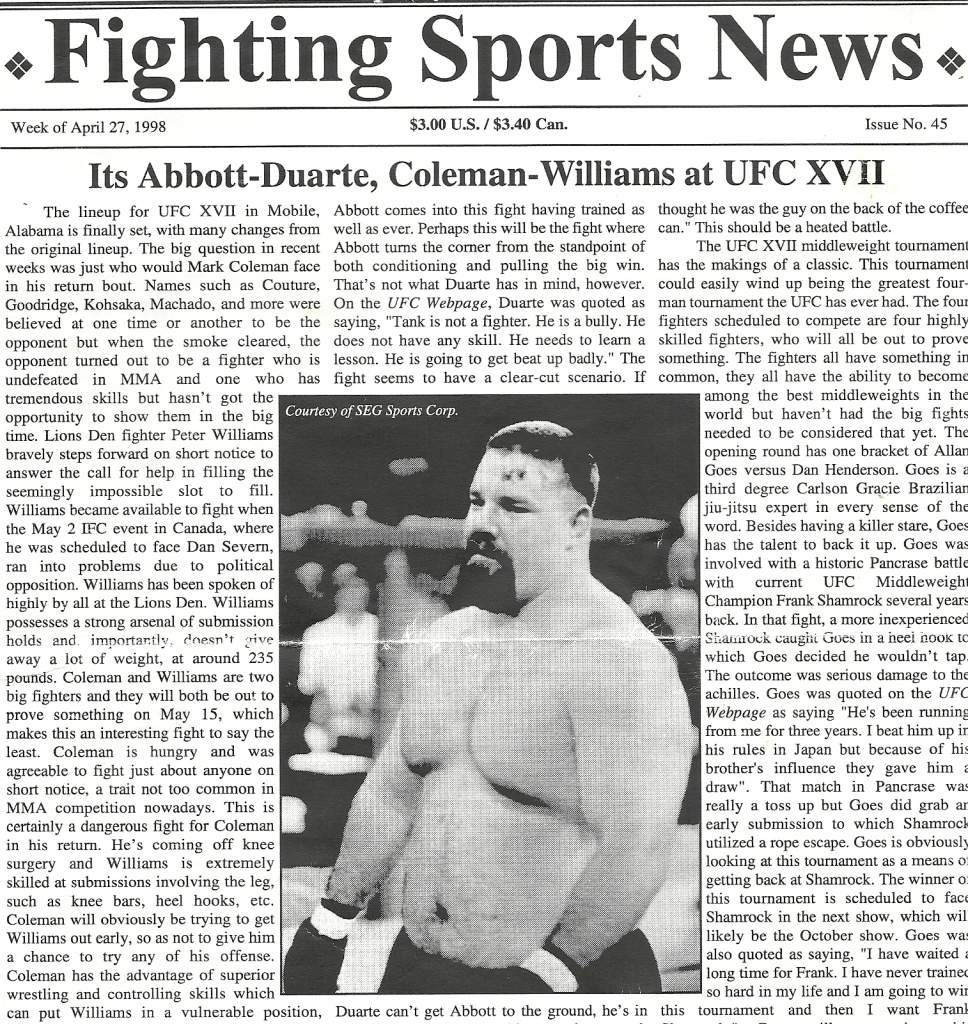 04/98 Fighting Sports News