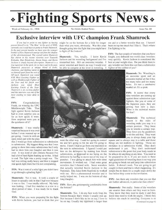 02/98 Fighting Sports News