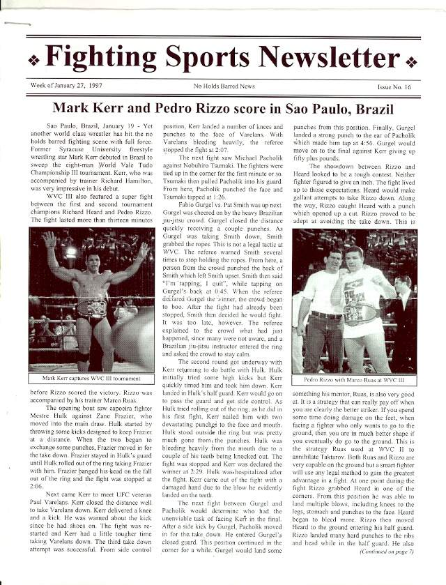 01/97 Fighting Sports Newsletter