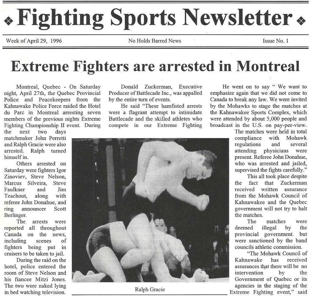 04/96 Fighting Sports Newsletter