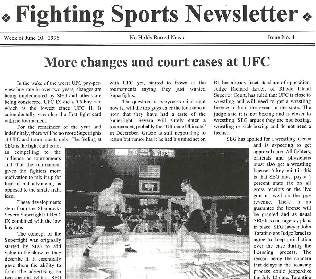06/96 Fighting Sports Newsletter