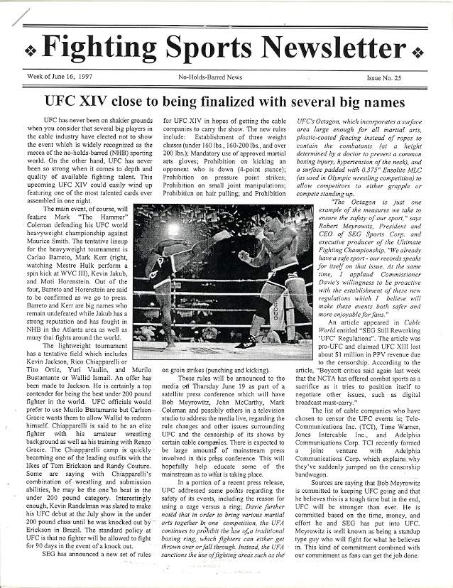06/97 Fighting Sports Newsletter