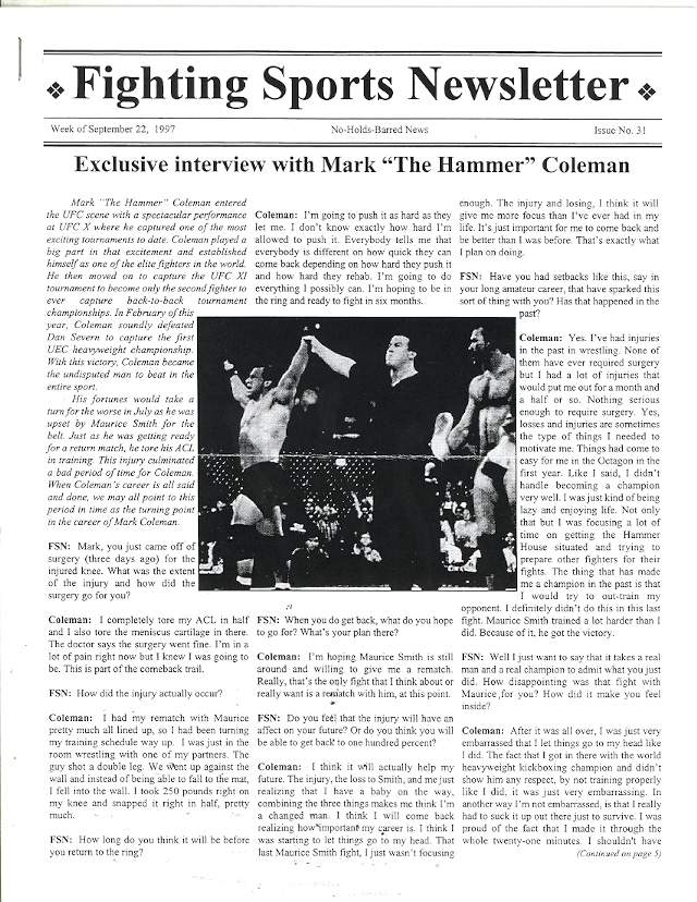 09/97 Fighting Sports Newsletter
