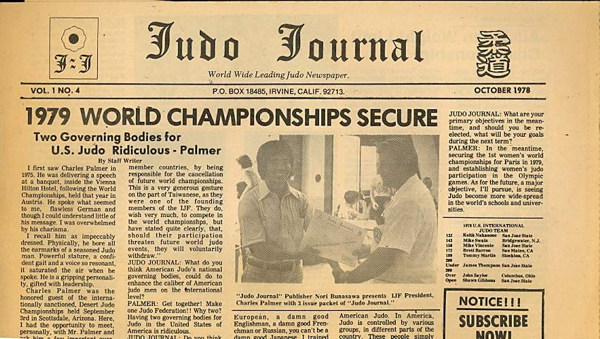 10/78 Judo Journal Newspaper