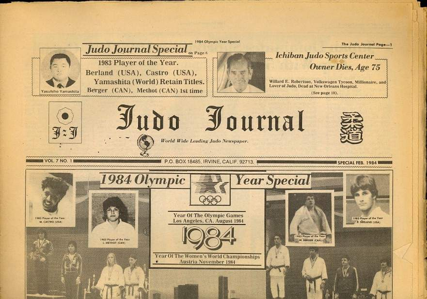 02/84 Judo Journal Newspaper