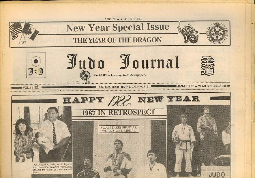 01/88 Judo Journal Newspaper