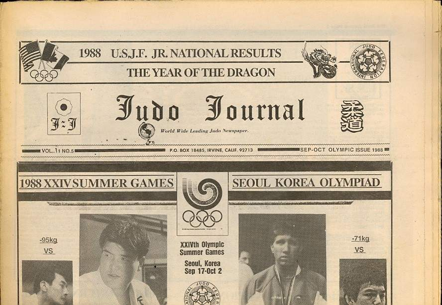 09/88 Judo Journal Newspaper