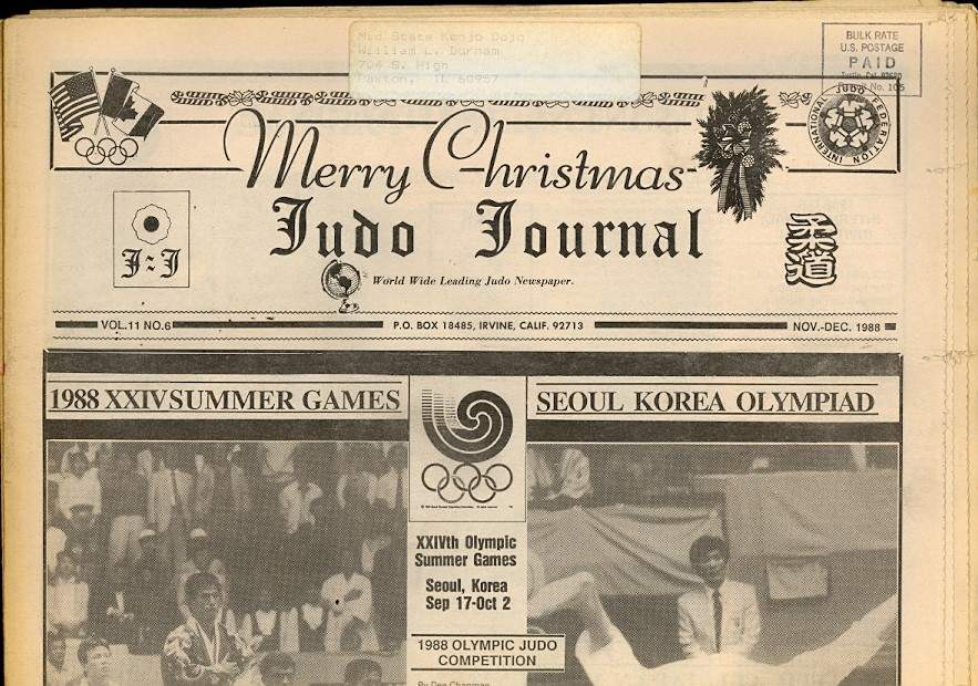 11/88 Judo Journal Newspaper