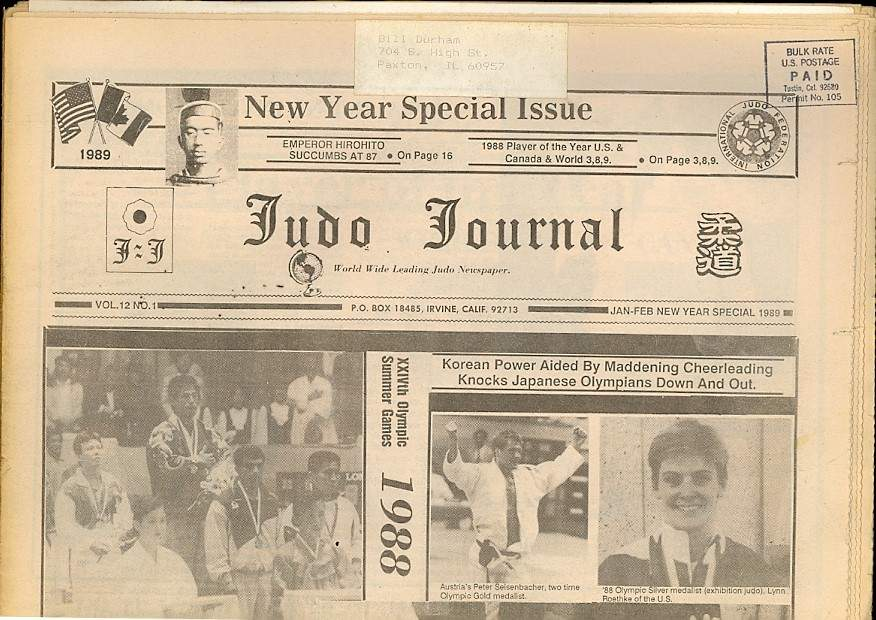 01/89 Judo Journal Newspaper