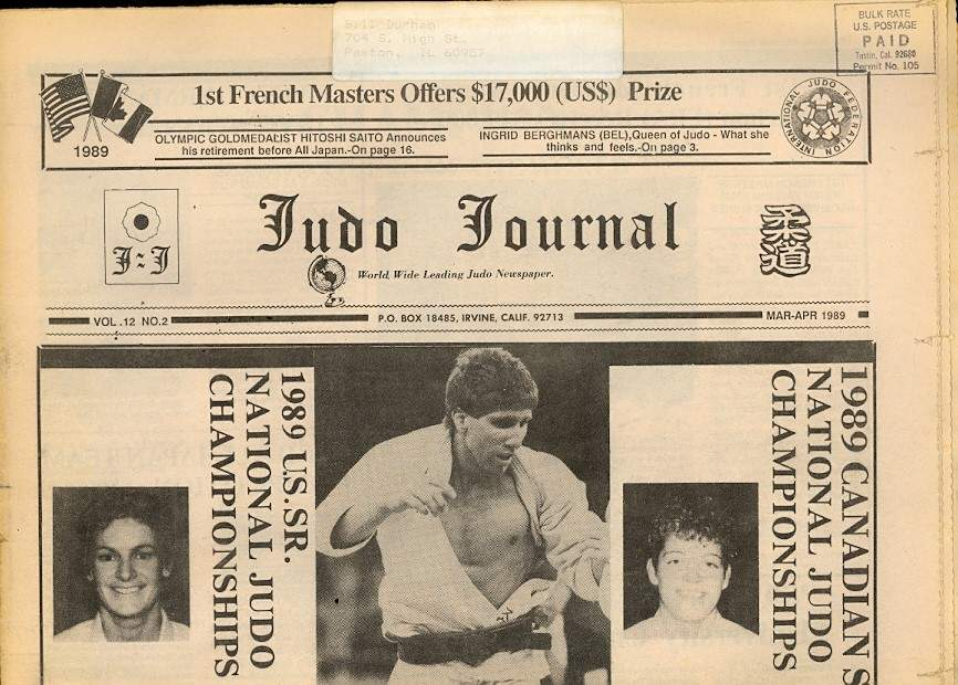 03/89 Judo Journal Newspaper