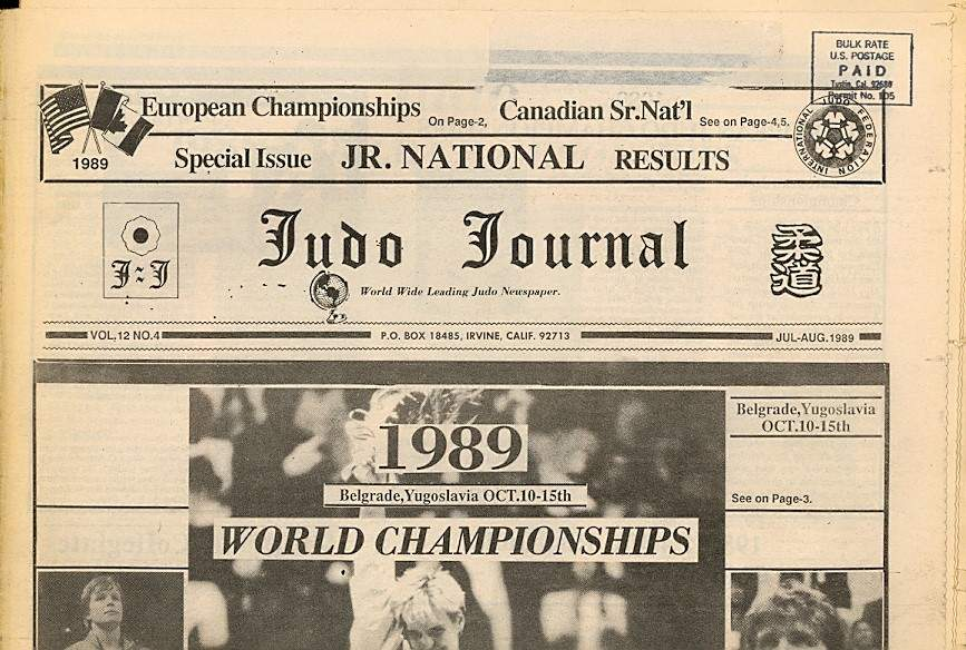 07/89 Judo Journal Newspaper