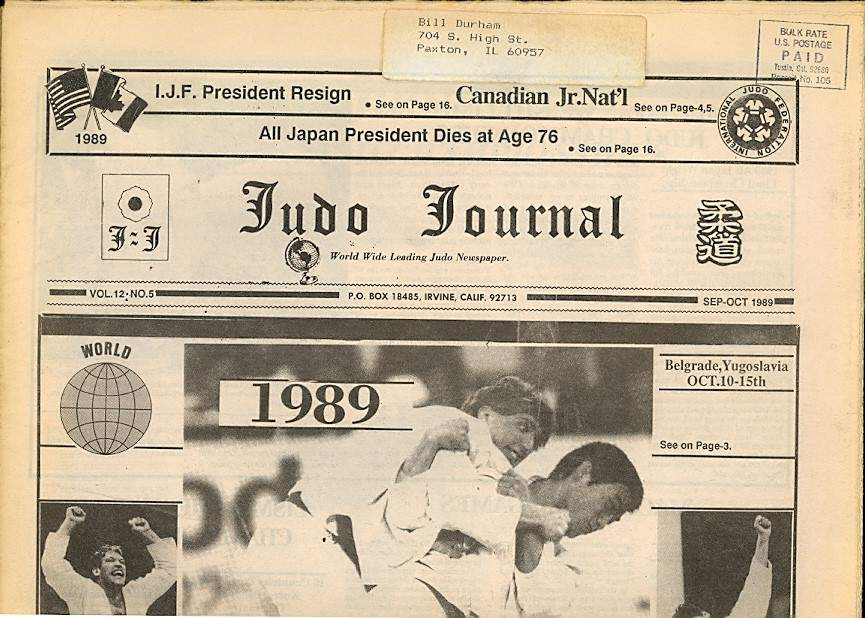 09/89 Judo Journal Newspaper
