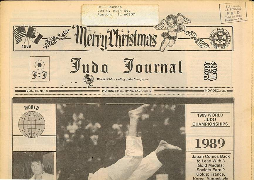 11/89 Judo Journal Newspaper