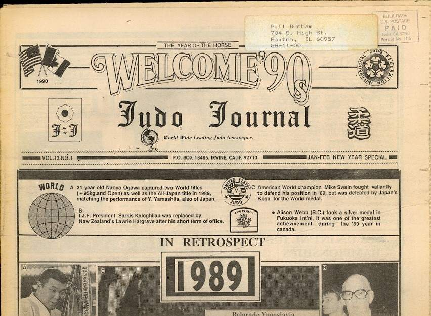 01/90 Judo Journal Newspaper
