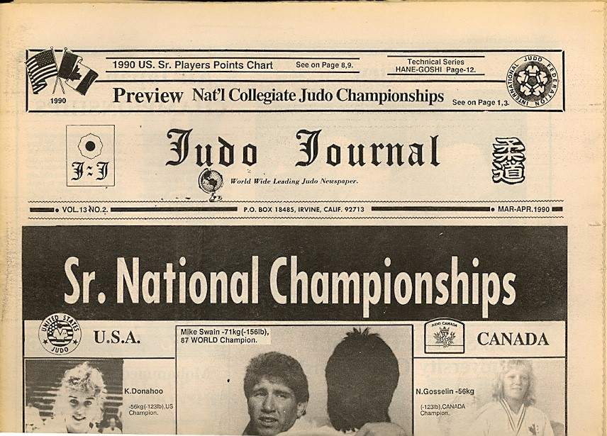 03/90 Judo Journal Newspaper