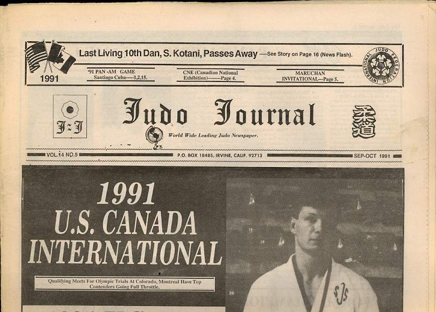 09/91 Judo Journal Newspaper