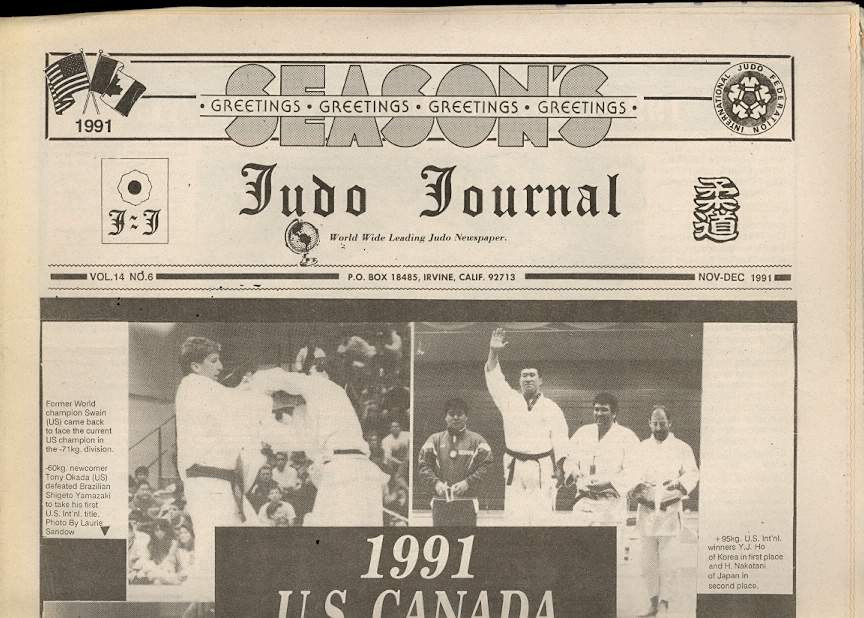 11/91 Judo Journal Newspaper