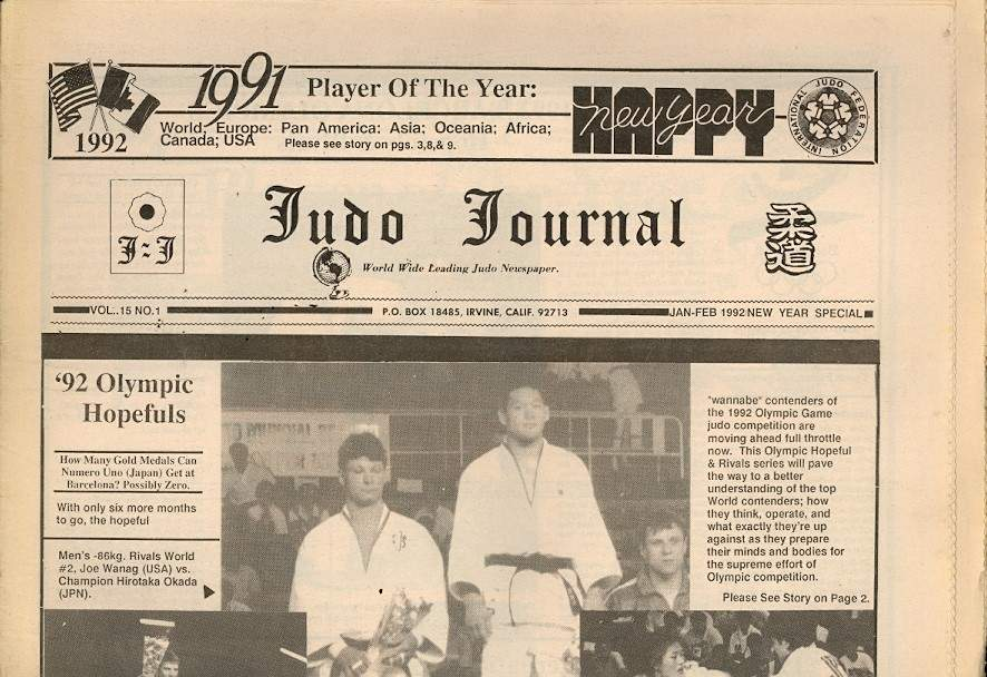 01/92 Judo Journal Newspaper