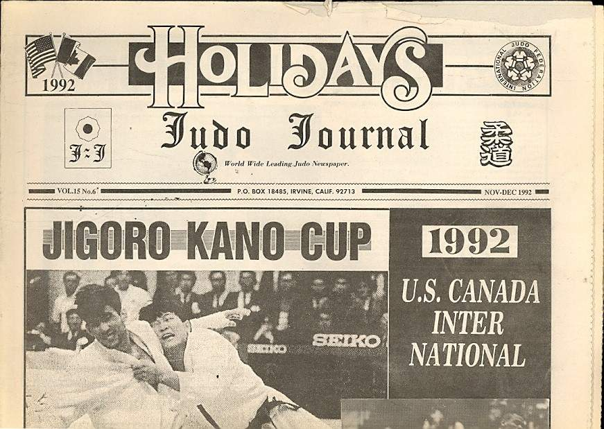 11/92 Judo Journal Newspaper