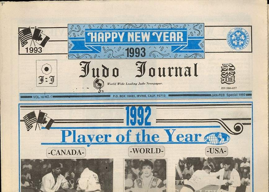 01/93 Judo Journal Newspaper