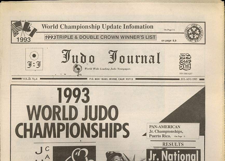 07/93 Judo Journal Newspaper