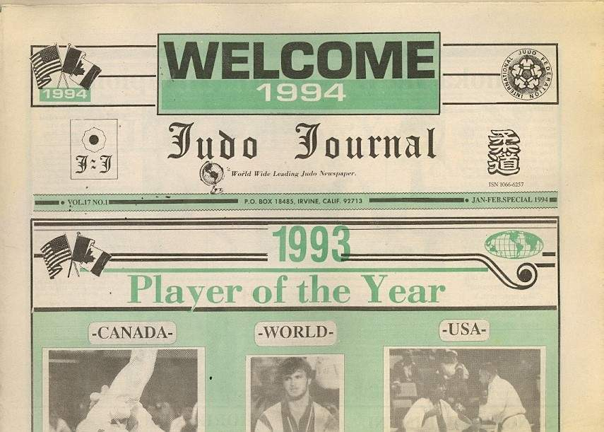 01/94 Judo Journal Newspaper