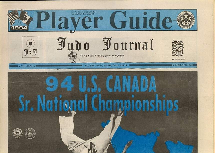 03/94 Judo Journal Newspaper